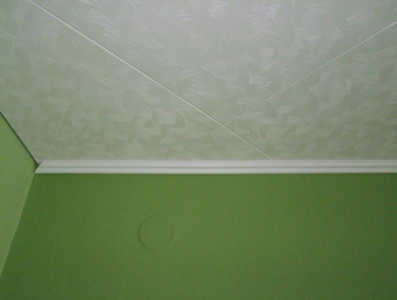 lepení lištz na strop